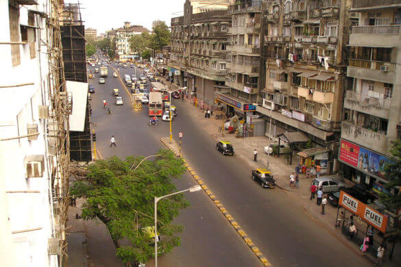 photo des rues de bombay